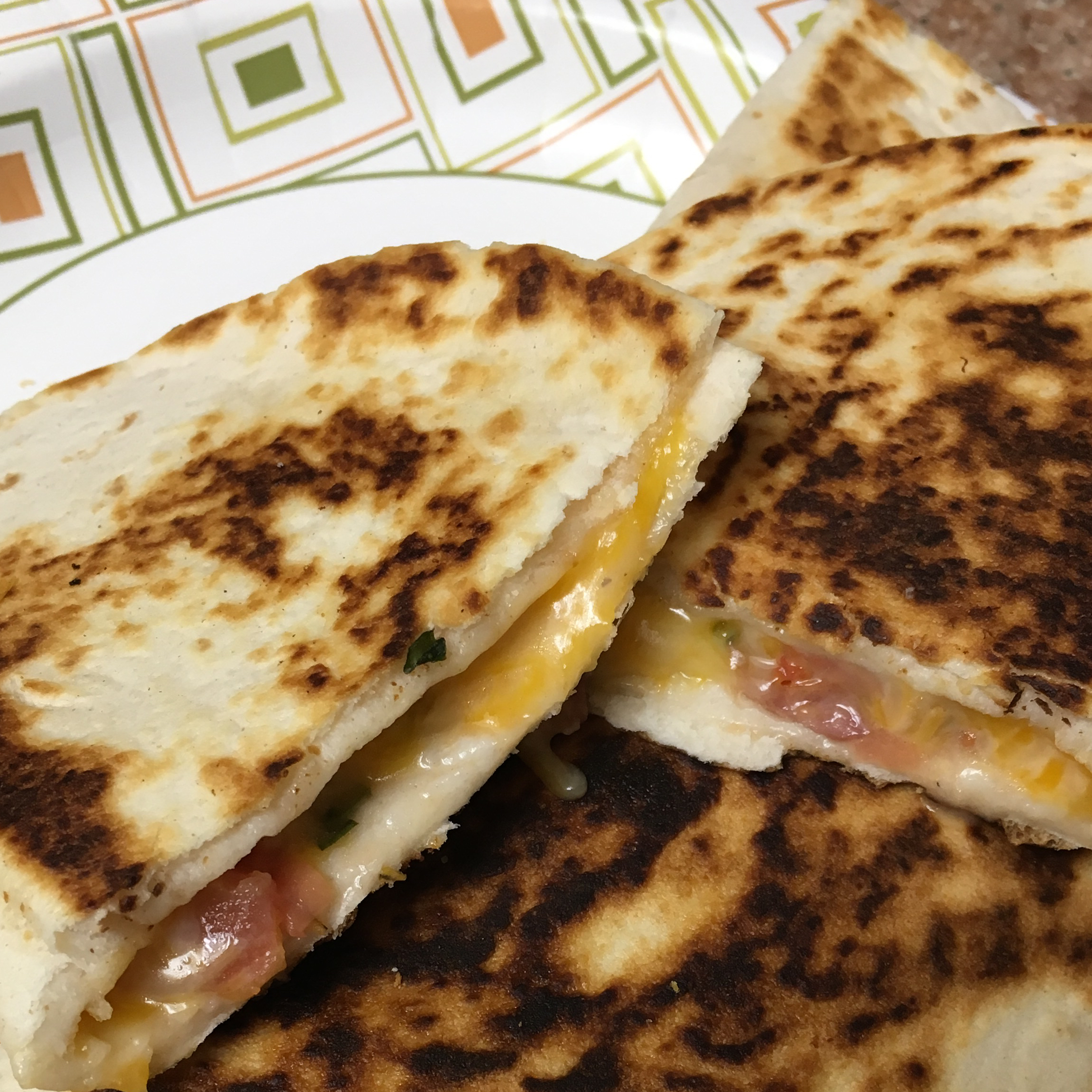 Bacon and Tomato Quesadillas Punkin078