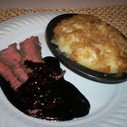Flat Iron Steak with Balsamic Reduction