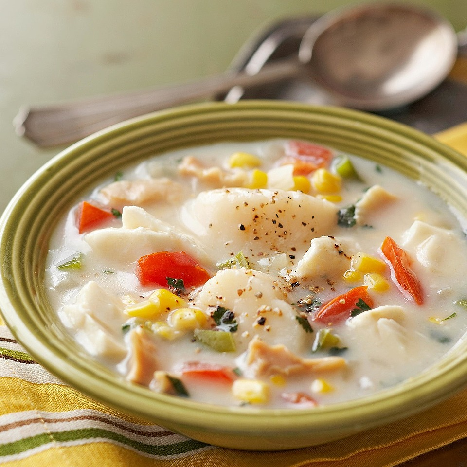 Seafood-Corn Chowder Diabetic Living Magazine