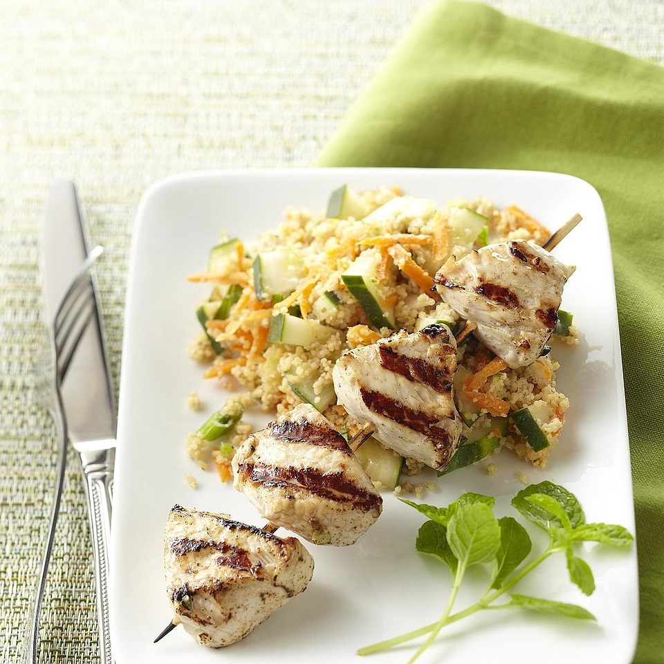 Tandoori Turkey Kebabs with Couscous Trusted Brands