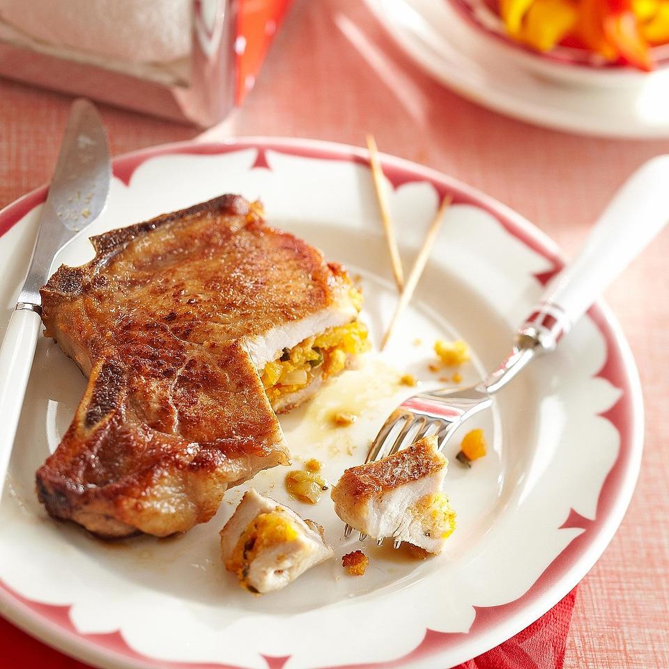 Cornbread-Stuffed Pork Chops Trusted Brands