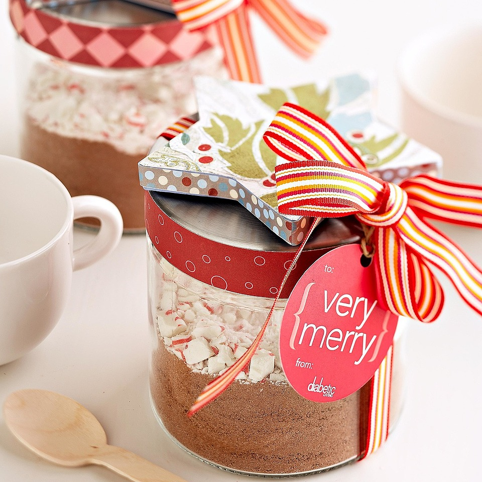 Put together this tasty Peppermint Hot Cocoa mix in a festive jar for a stocking stuffer or fun holiday gift.