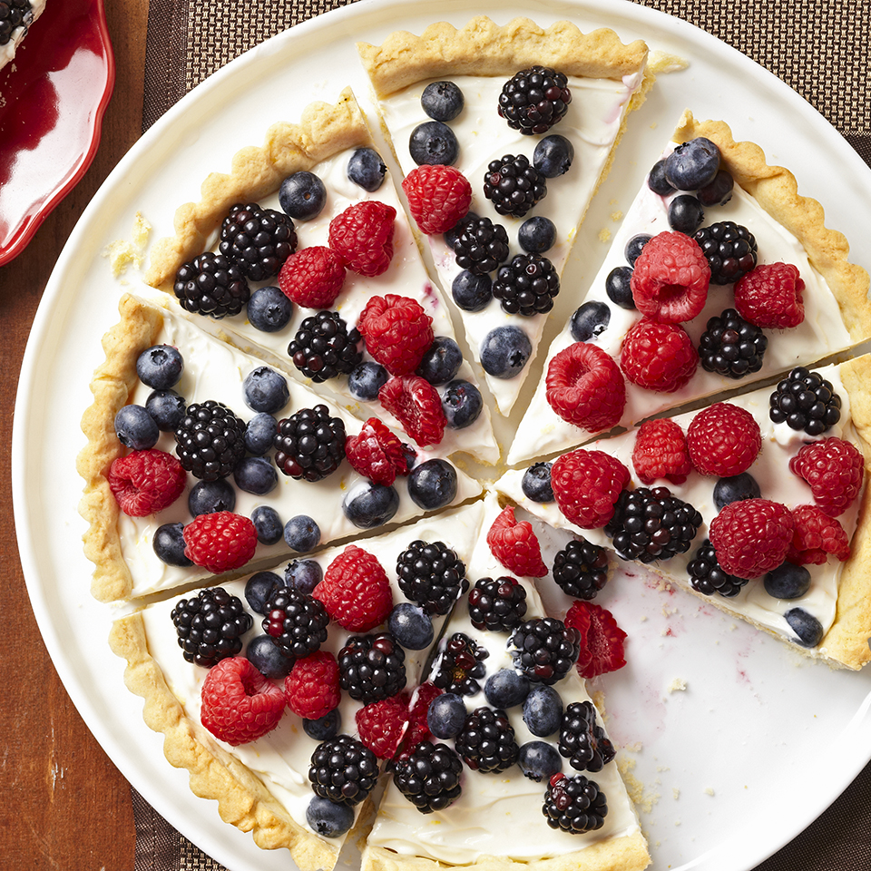 Berry Tart with Lemon Cookie Crust Diabetic Living Magazine