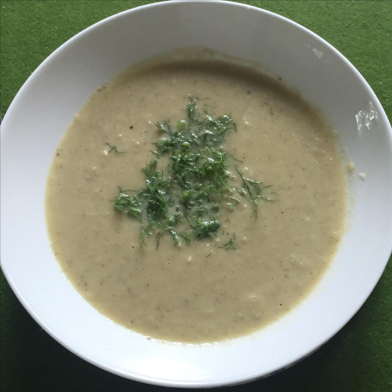 Vegetarian Cream of Fennel Soup