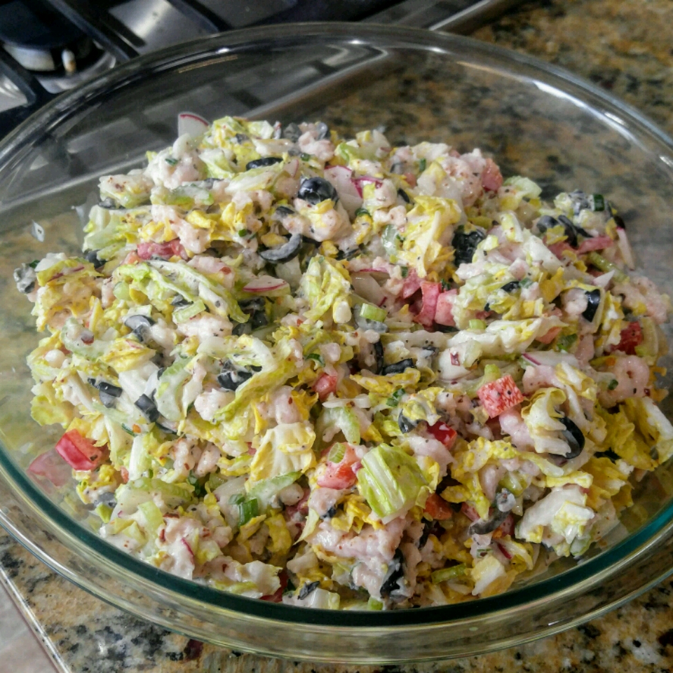 Summertime Crab Slaw with Napa Cabbage Valerie Shawhan