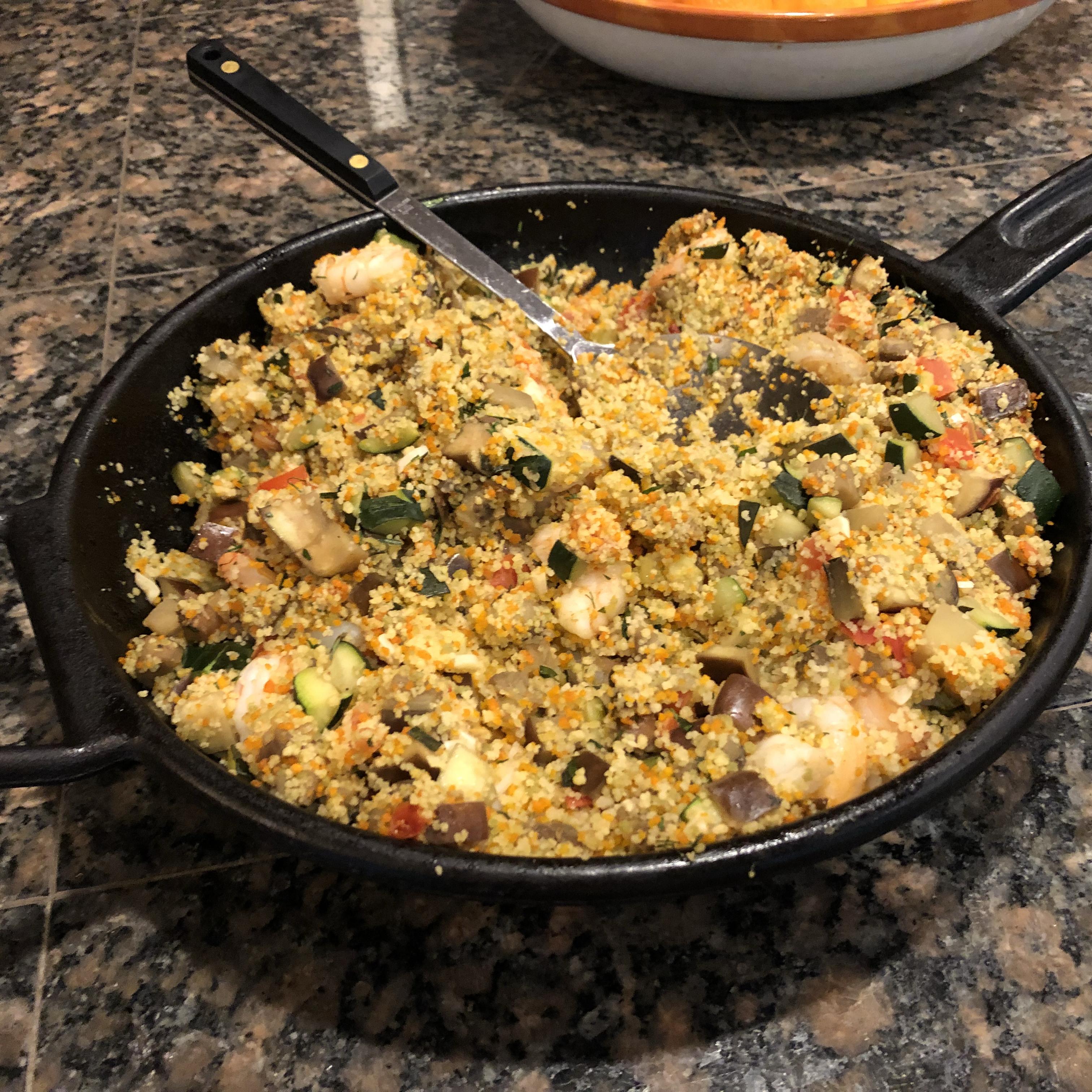 Shrimp and Vegetable Couscous Davina