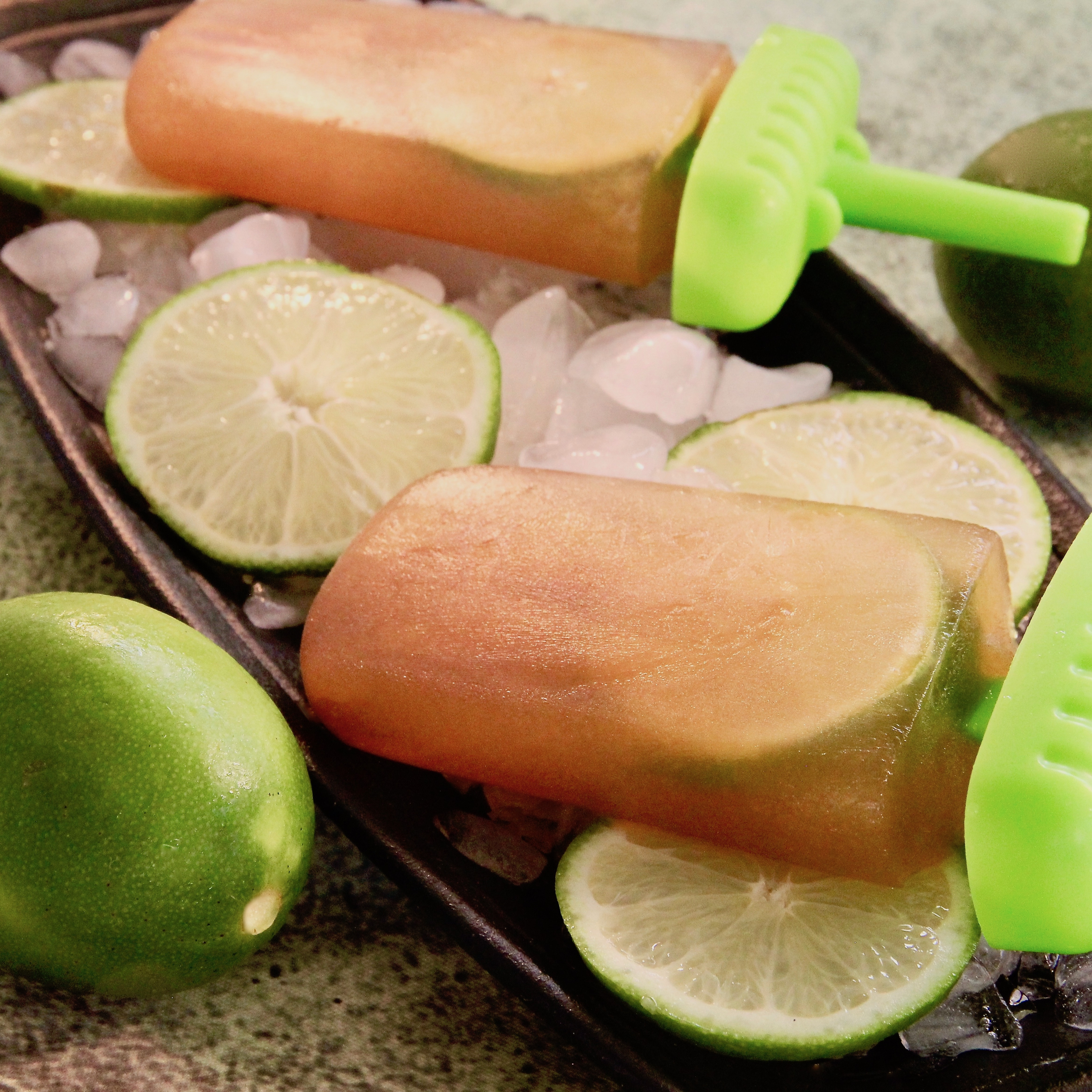 Earl Grey Tea and Lime Ice Pops
