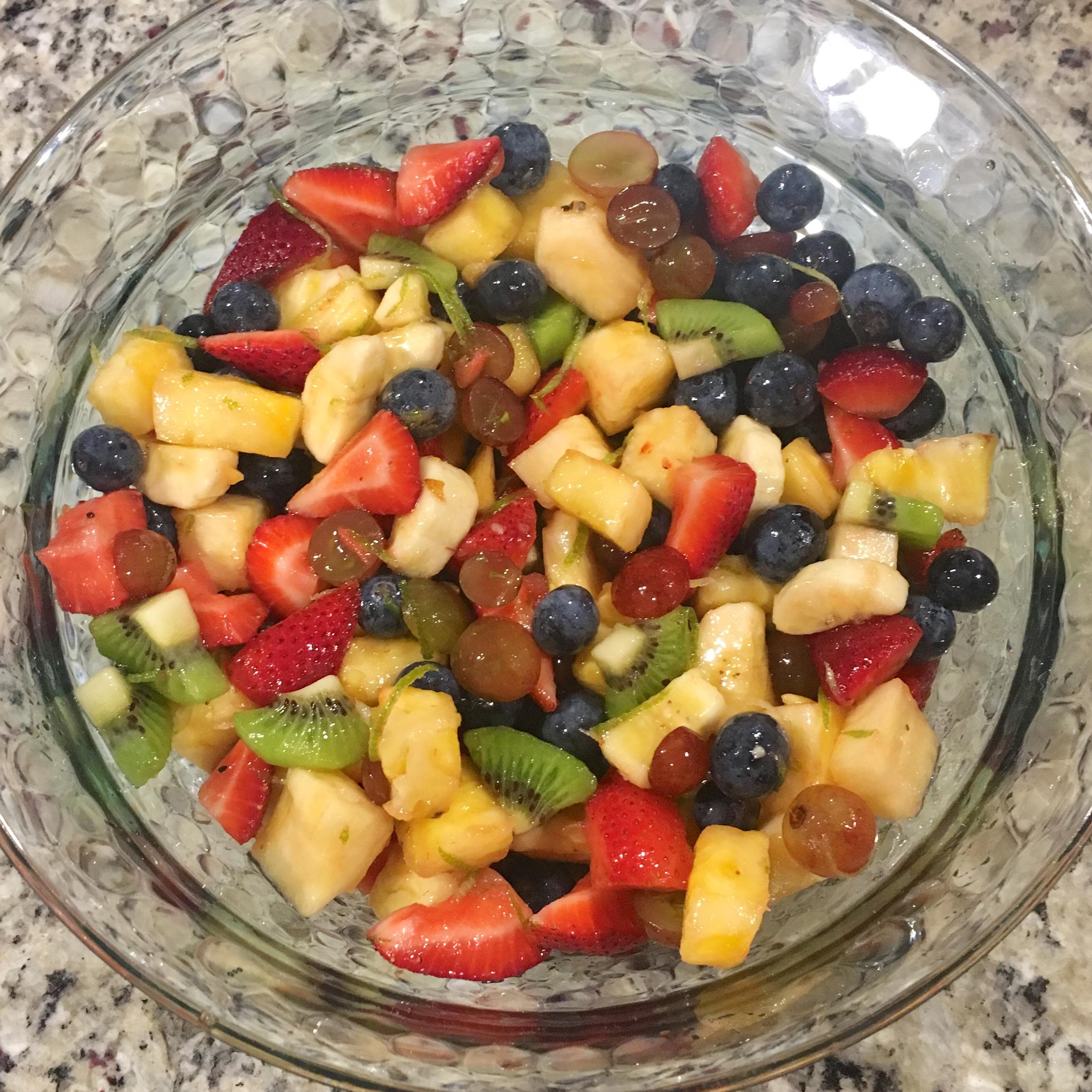 Honey Lime Fruit Salad Char Roberts