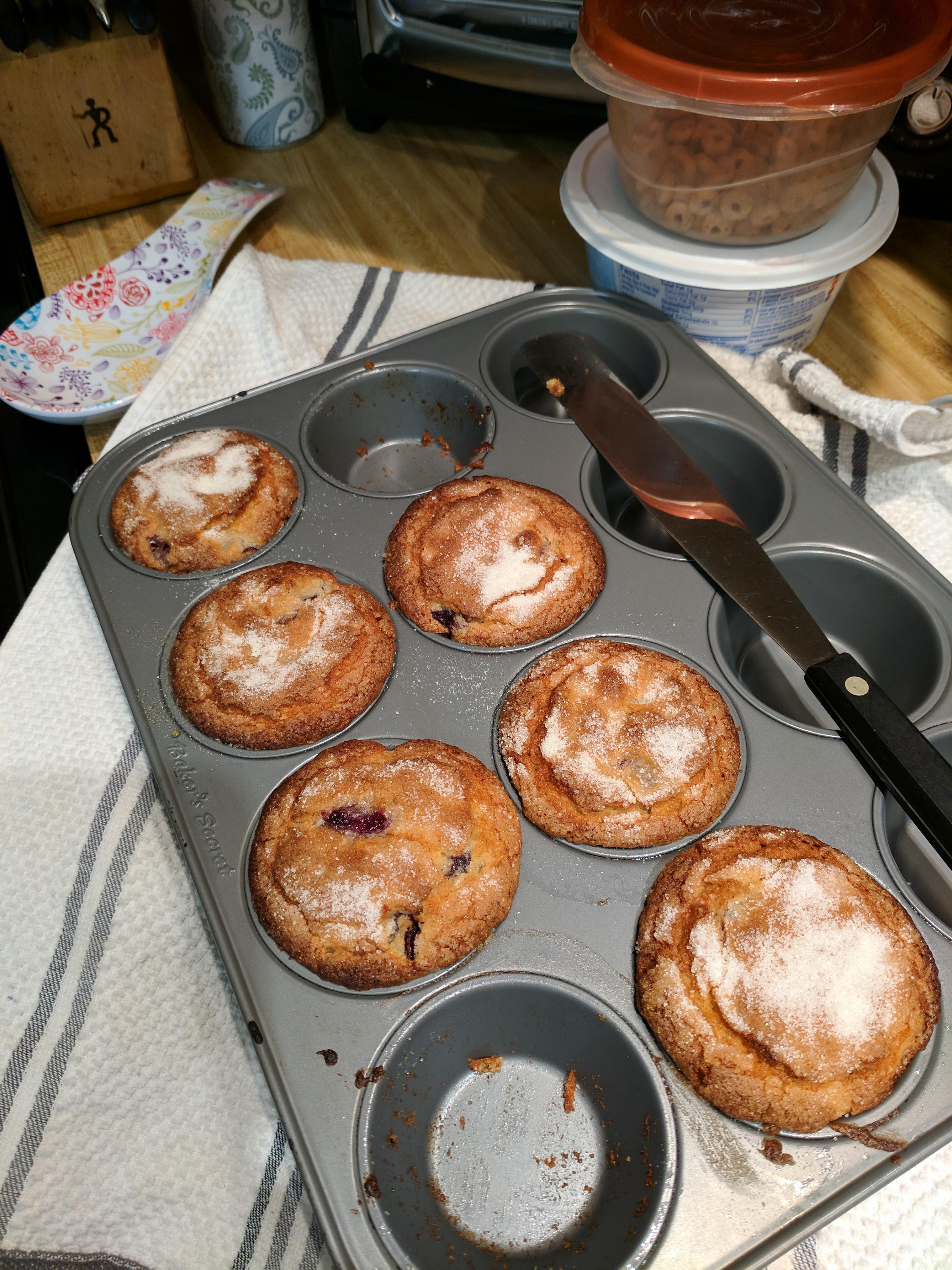 Fresh Cherry Muffins