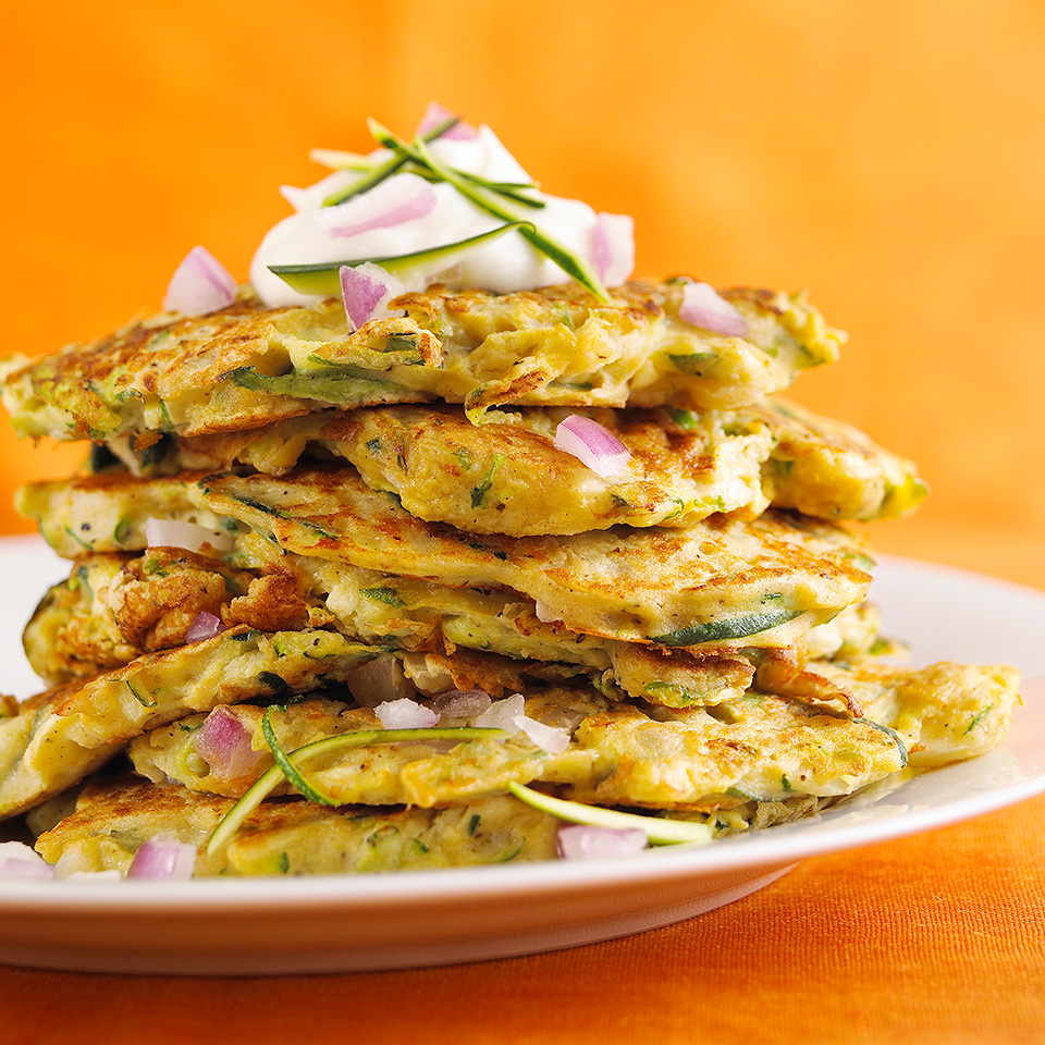 Zucchini ... pancakes? You bet! This crispy contender took first prize in a Diabetic Living Magazine zucchini recipe contest. Source: Diabetic Living Magazine