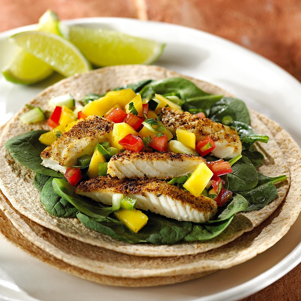 Fish Tacos with Mango Salsa Diabetic Living Magazine