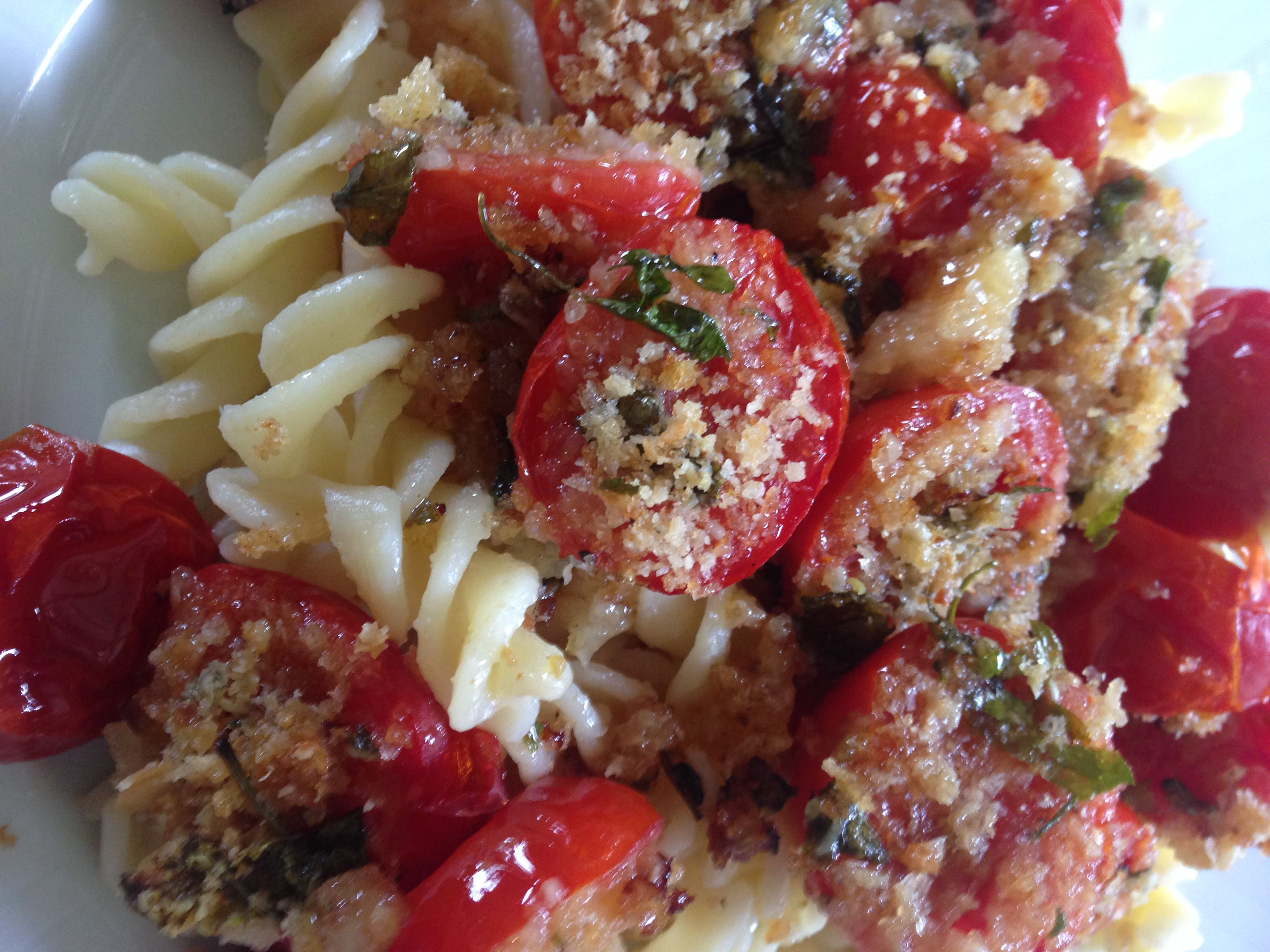 Spaghetti with Oven-Roasted Cherry Tomatoes