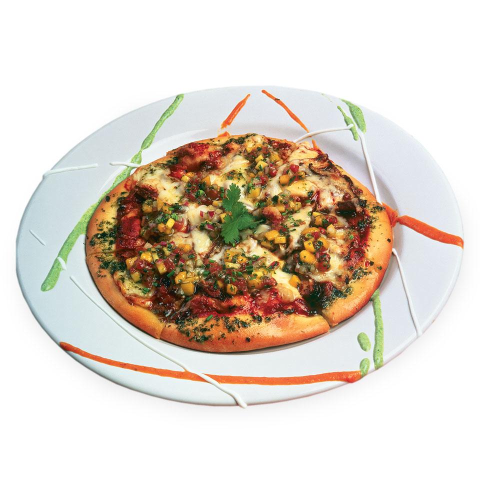 Jerk Chicken Pizza with Mango Salsa
