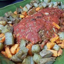 Vegetarian Meatloaf with Vegetables