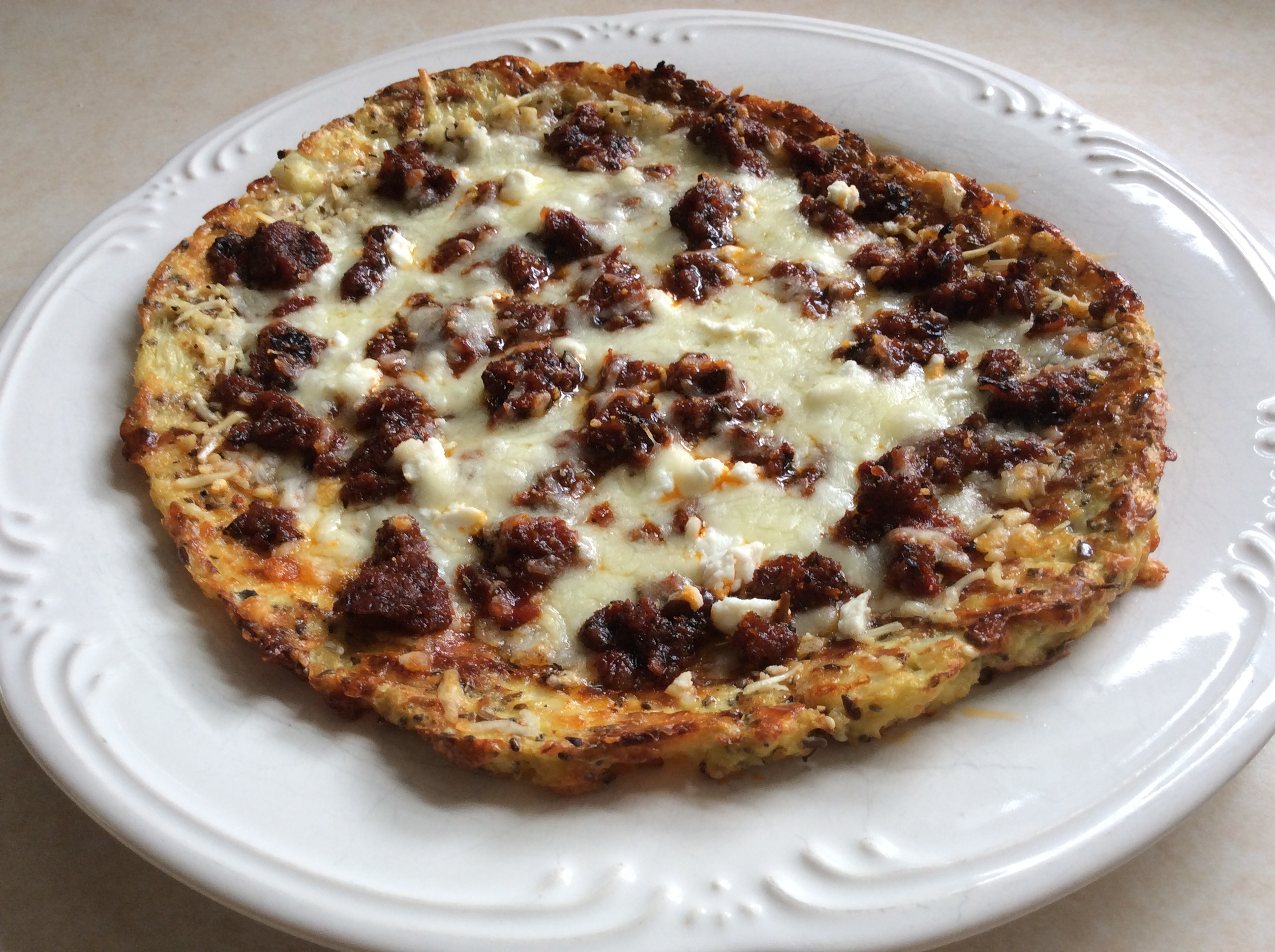 Quick and Easy Cauliflower Crust Personal Pizza