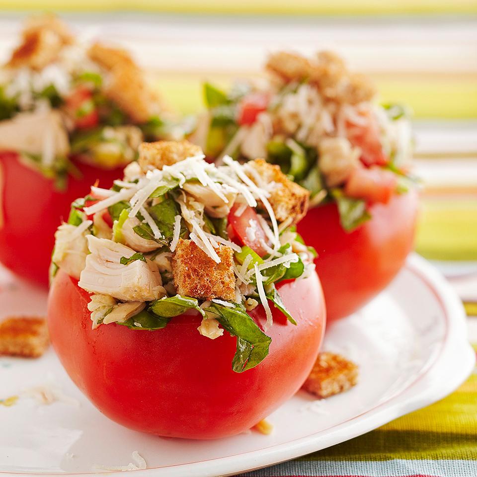 Fresh Bruschetta Chicken-Stuffed Tomatoes Allrecipes Trusted Brands