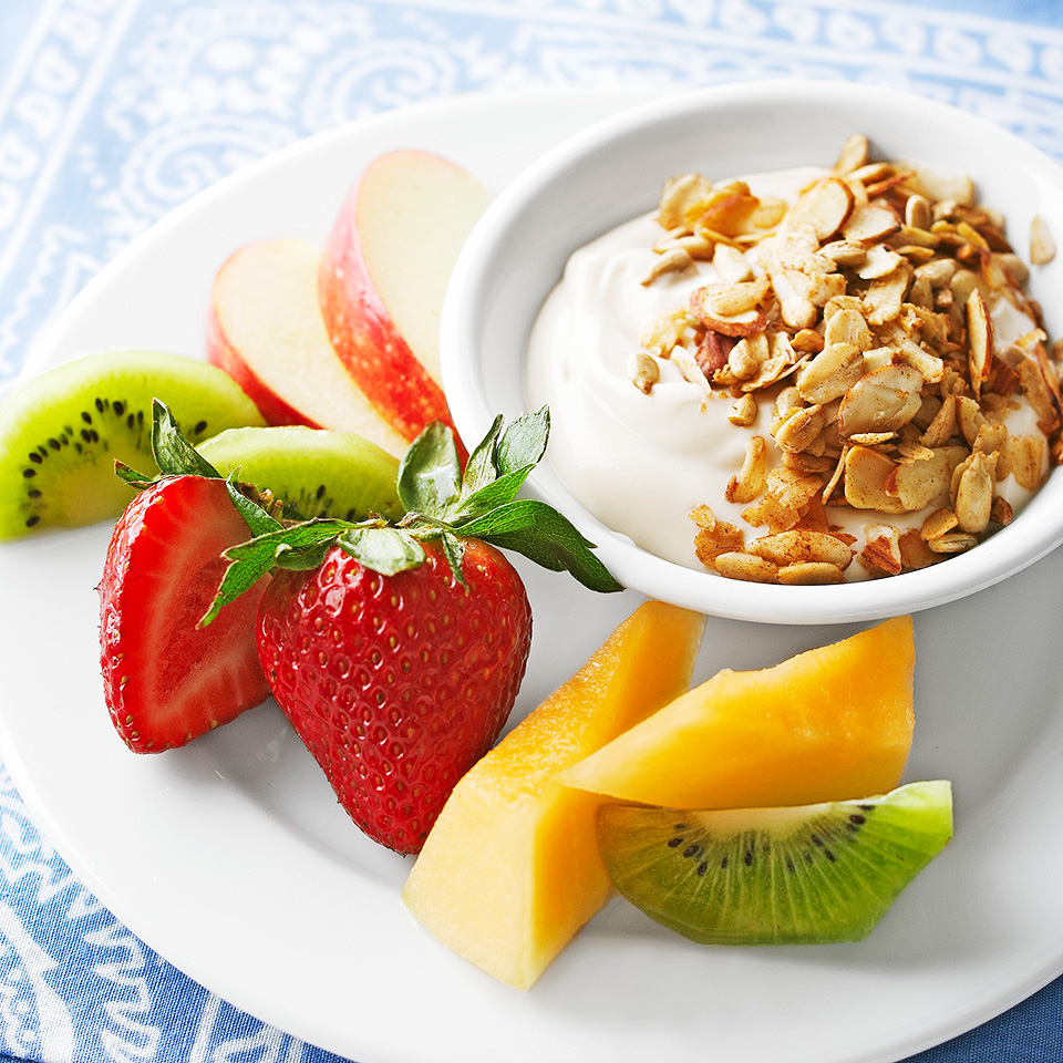 Granola-Topped Caramel Fruit Dip Diabetic Living Magazine