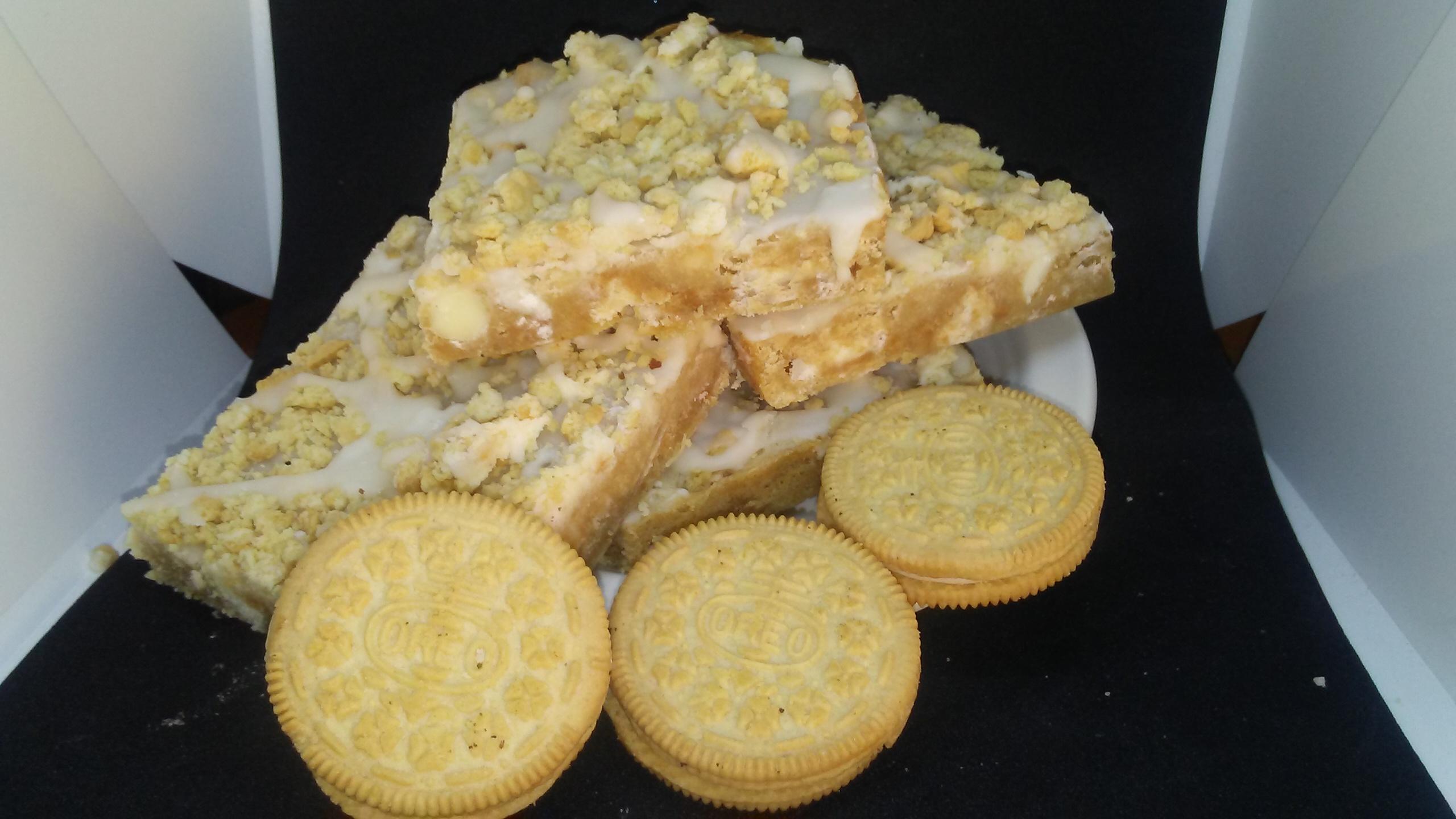 White Chocolate Blondie Brownies
