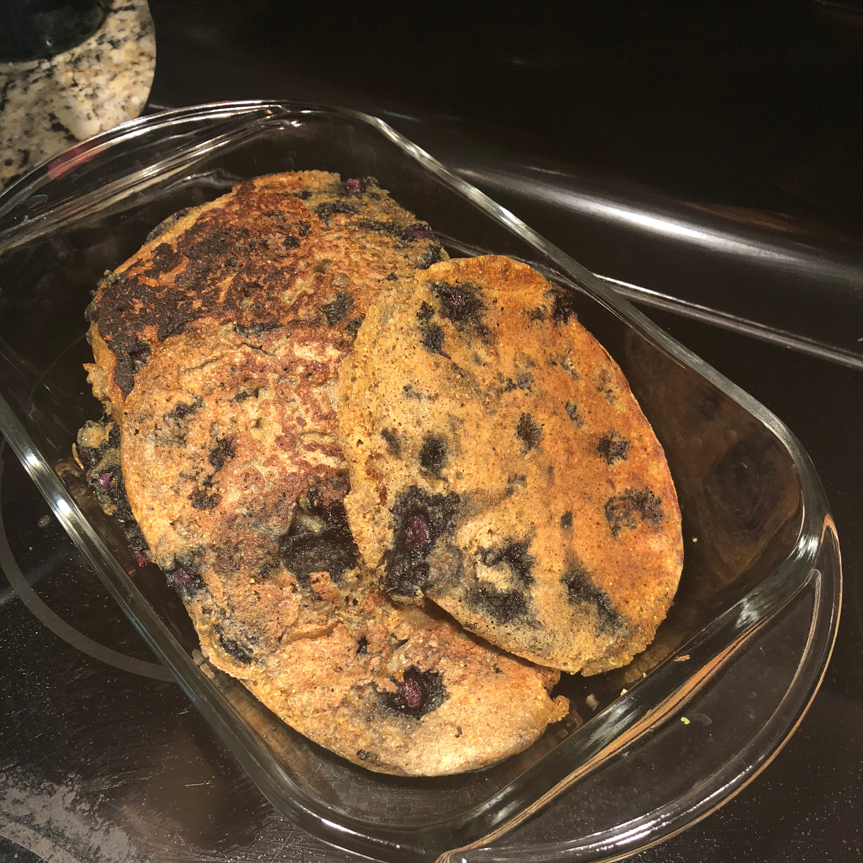 Blueberry Cornmeal Pancakes Raenisha Saintelo