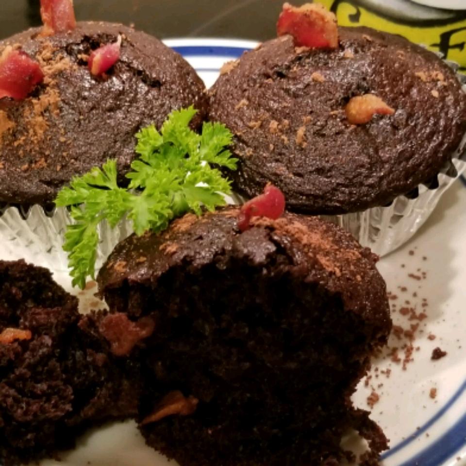 Dark Chocolate Bacon Cupcakes Jimmyg