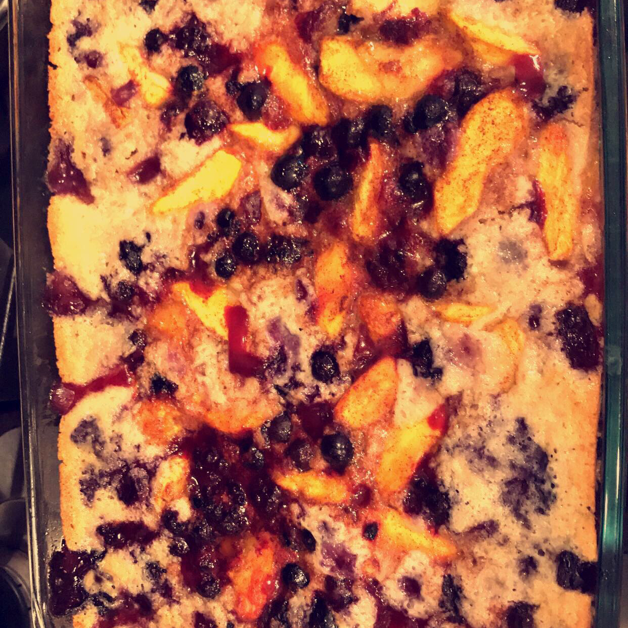 Peach and Blackberry Cobbler