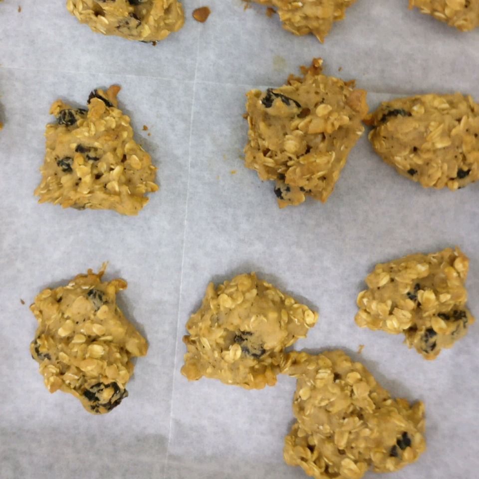 Egg-Free Low-Fat Oatmeal Cookies Mikalimi