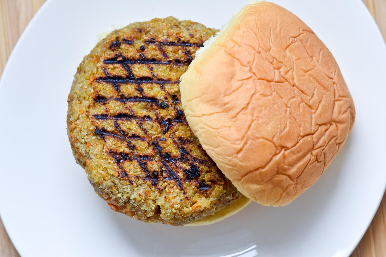 Carrot Rice Nut Burger