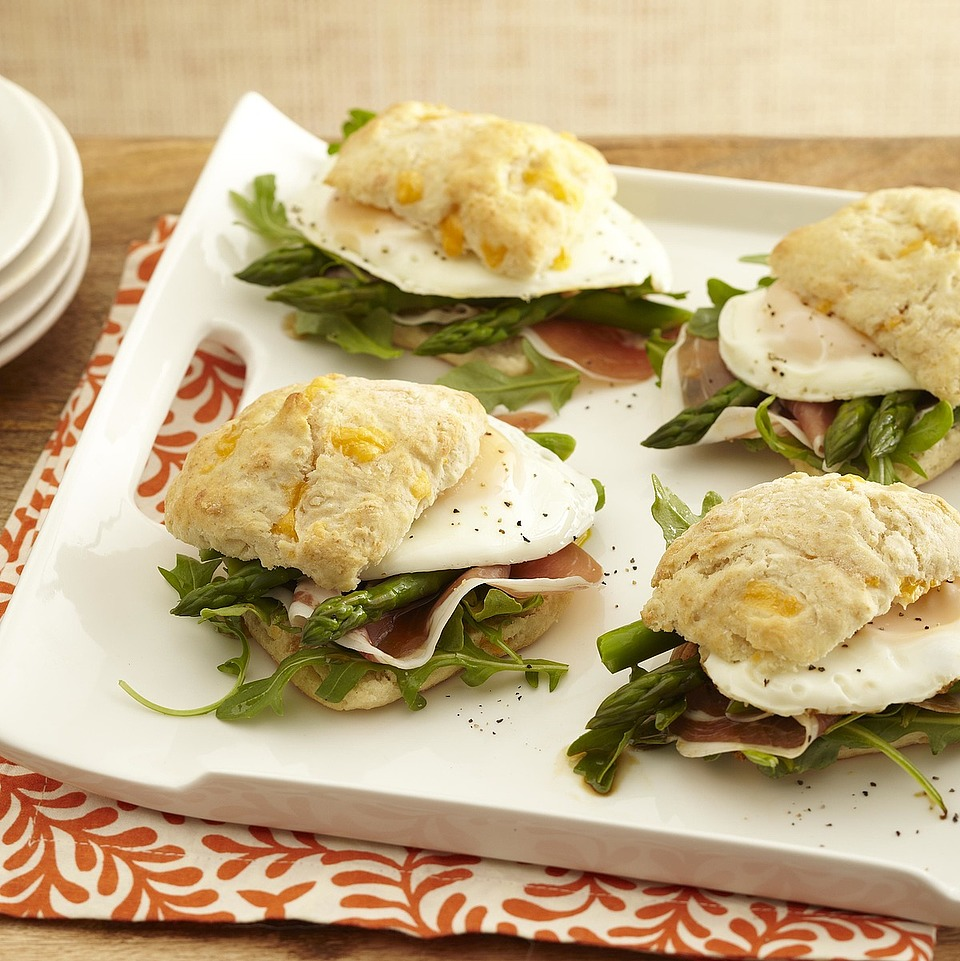 Asparagus, Prosciutto & Arugula Breakfast Sandwiches Trusted Brands