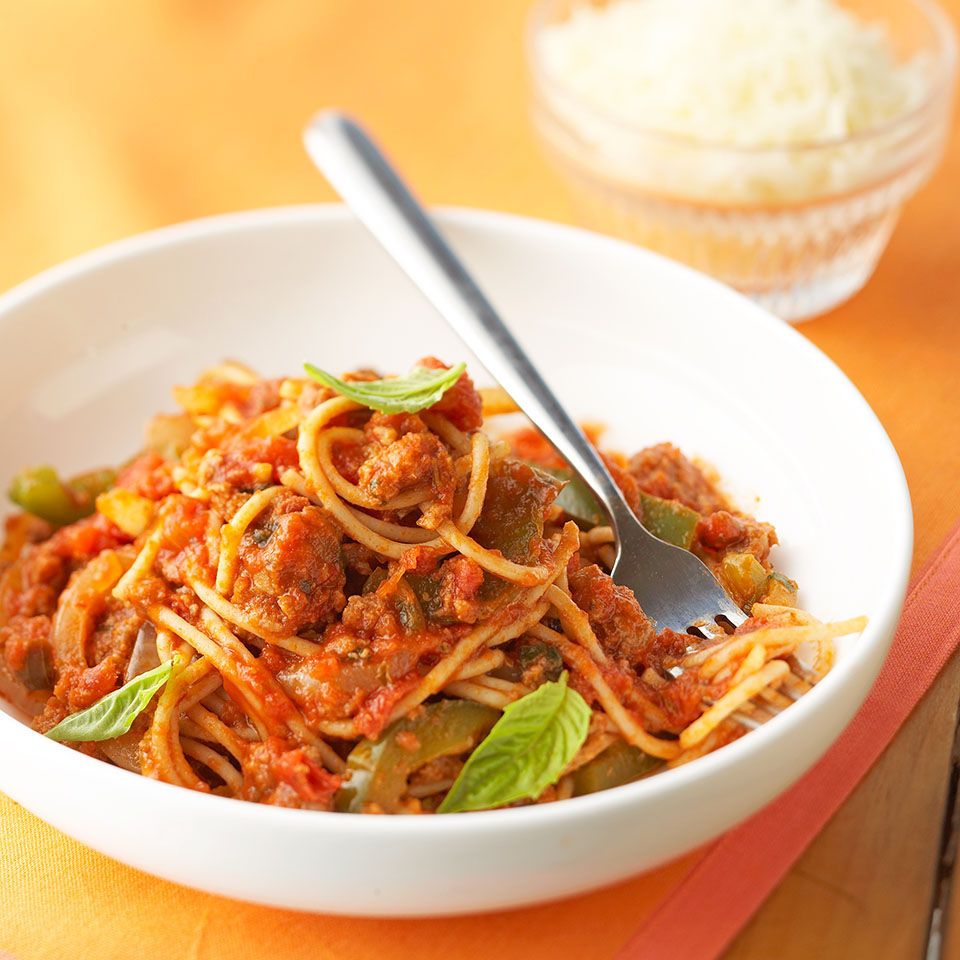 Spaghetti with Meat Loaf Sauce Diabetic Living Magazine