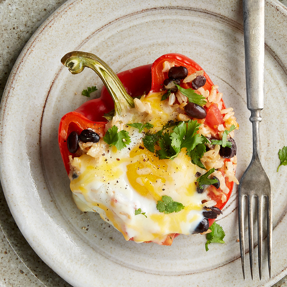 These Mexican-inspired stuffed peppers are perfect for your next breakfast or brunch endeavor. With 16 grams of protein in each serving, these peppers are sure to leave you feeling full and satisfied. Source: Diabetic Living Magazine
