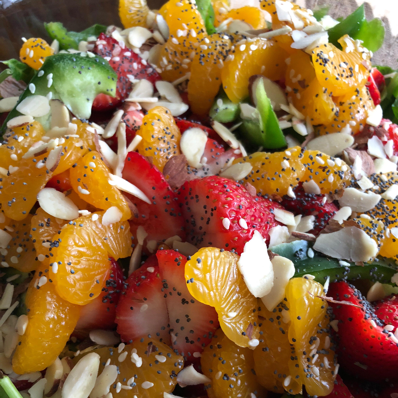 Sesame Strawberry Spinach Salad Joy