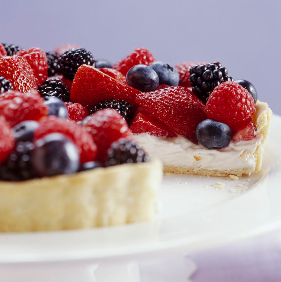 Berry-Cream Cheese Tart Diabetic Living Magazine
