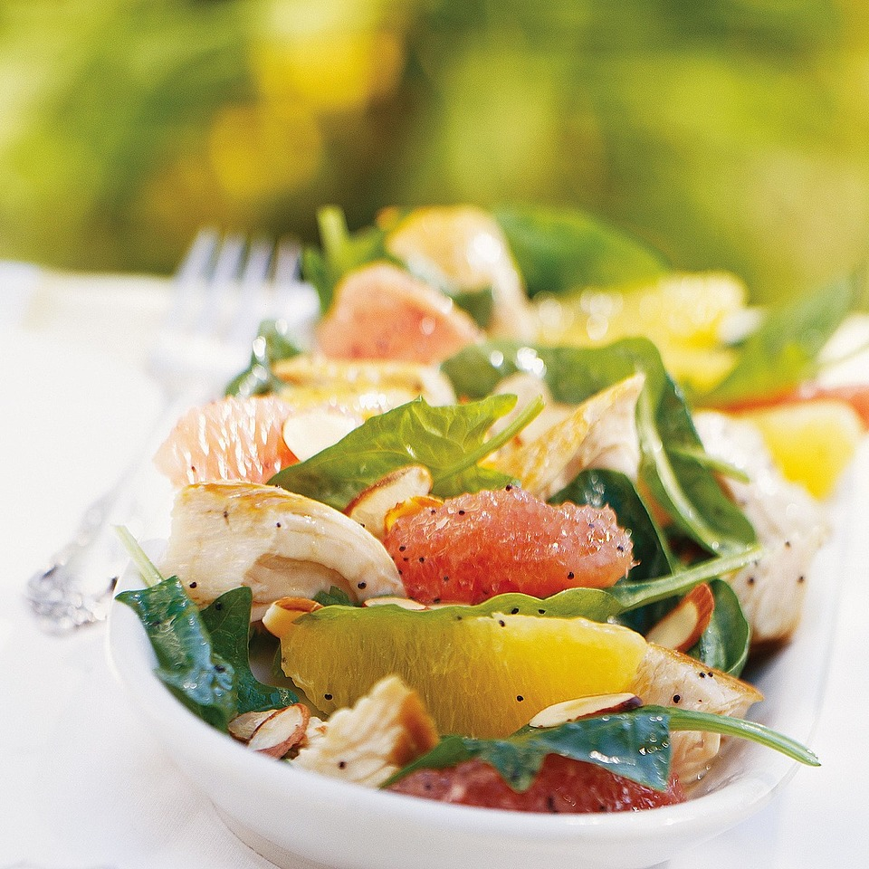 Citrus Turkey Spinach Salad Diabetic Living Magazine