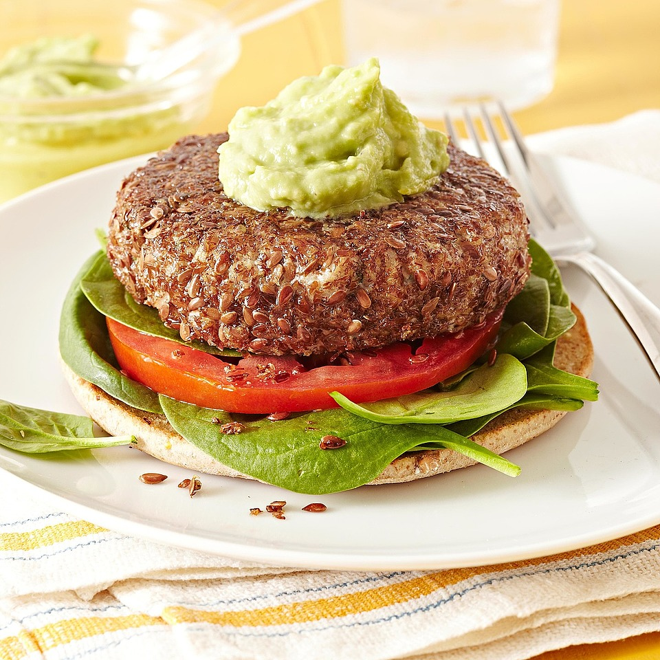 Flax-Crusted Tuna Burgers with Avocado Aioli Diabetic Living Magazine