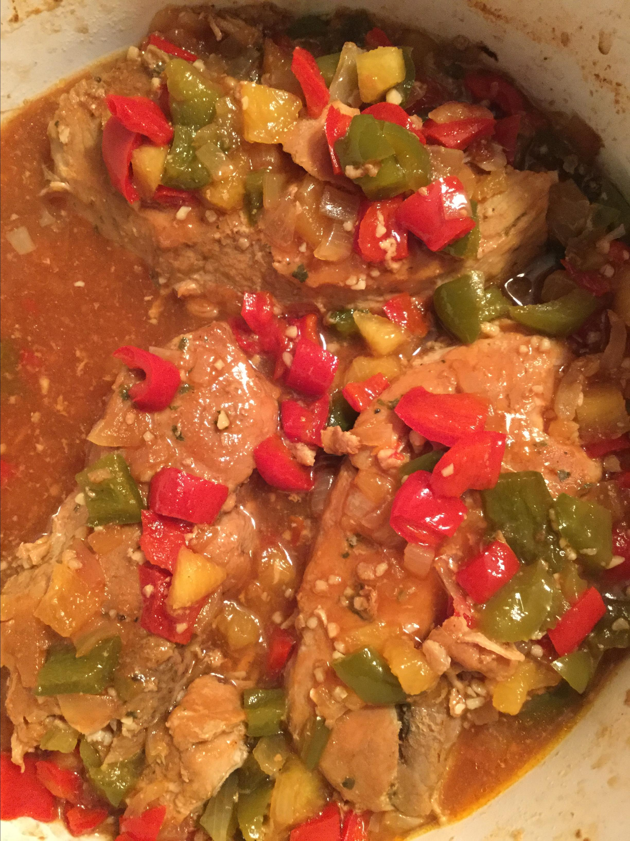 Easy Slow Cooker Sweet and Sour Pork Chops Wendy