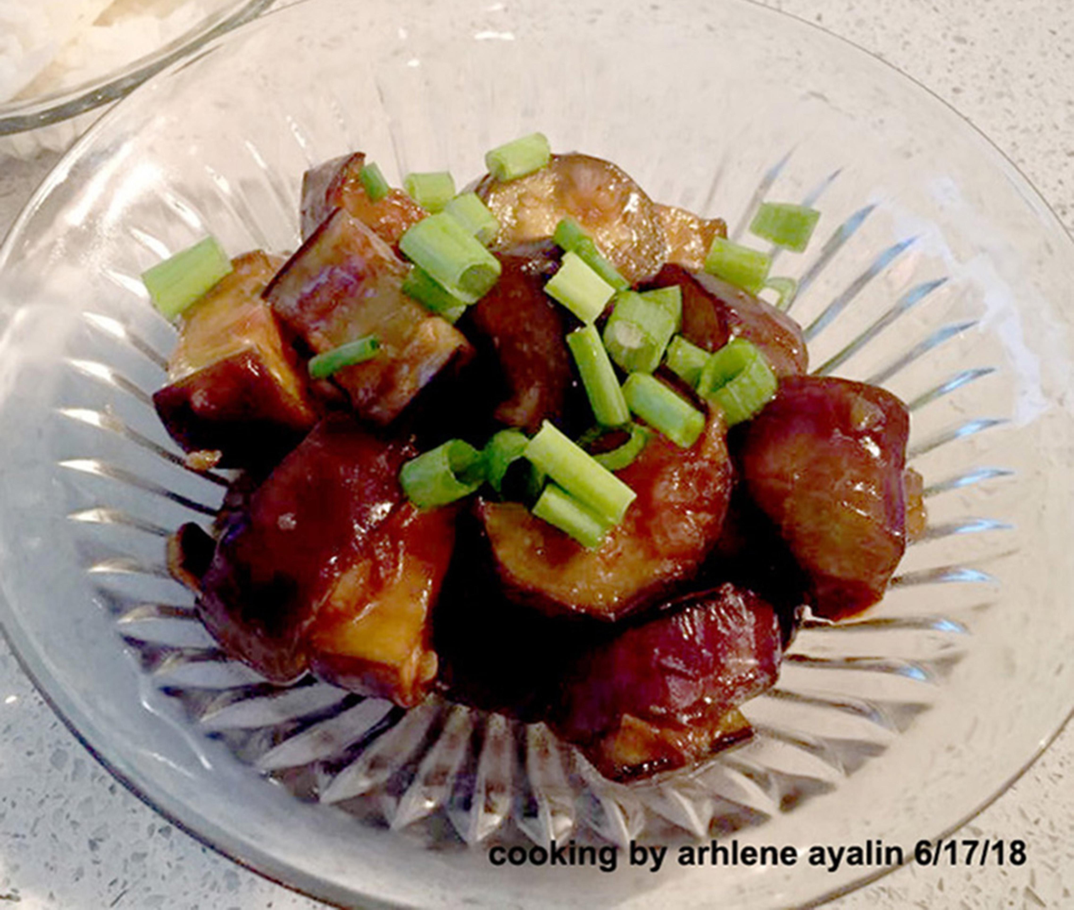 Eggplant with Garlic Sauce LadyArhlene