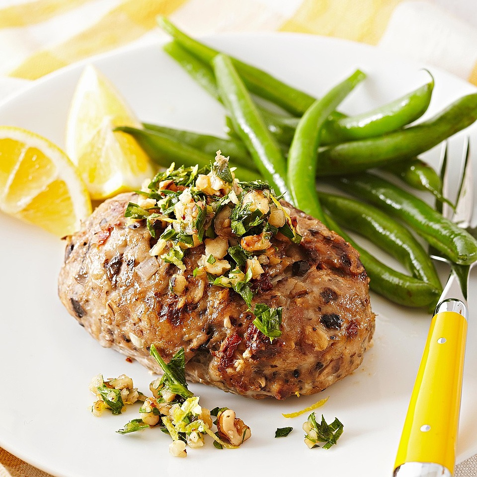 Mini Turkey Meat Loaves with Walnut-Parsley Gremolata Diabetic Living Magazine