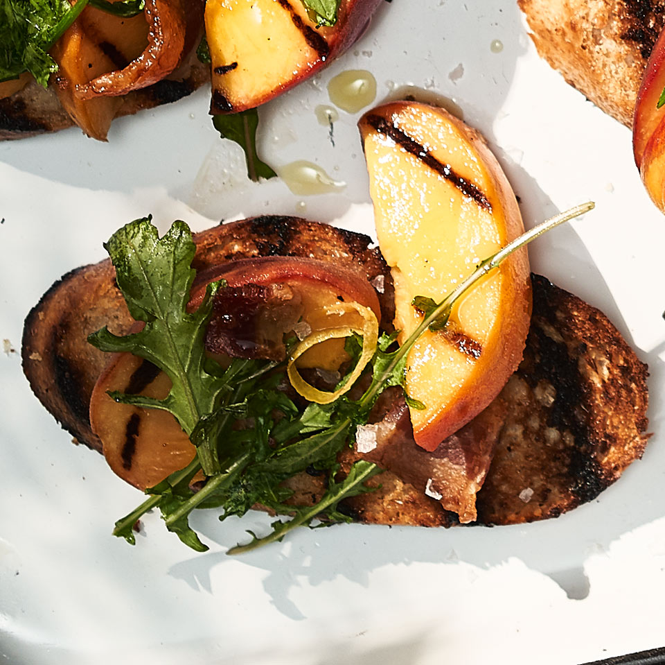 Peach & Bacon Crostini Julia Clancy