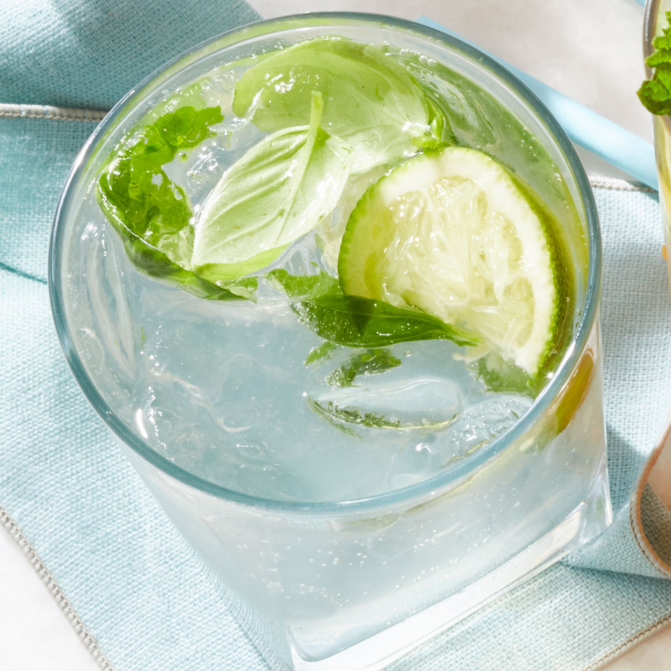 This easy low-alcohol cocktail keeps things fresh with whole limes and basil leaves. It's a twist on the caipirinha that subs white vermouth and vodka for the traditional cachaça, the fermented sugarcane liquor popular in Brazil, and features basil instead of the usual mint. Source: EatingWell Magazine, July/August 2018