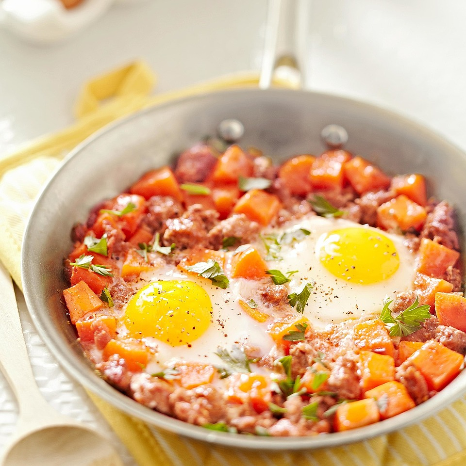 Spicy Sausage-Sweet Potato Hash Trusted Brands