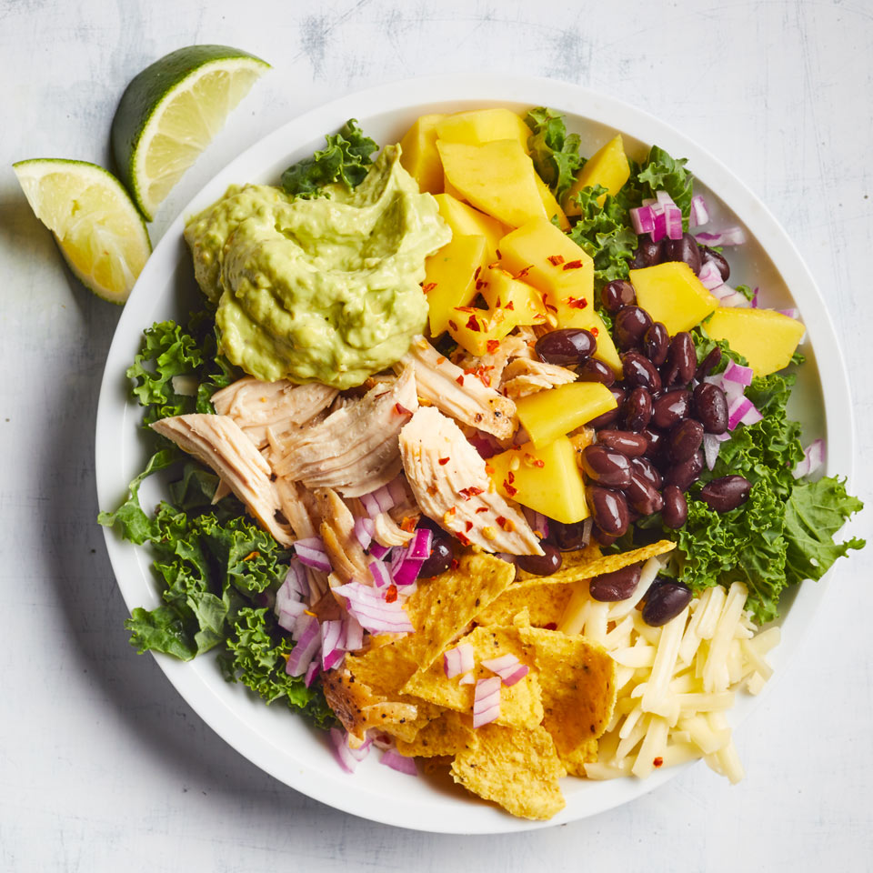 Chicken & Kale Taco Salad with Jalapeño-Avocado Ranch Breana Killeen