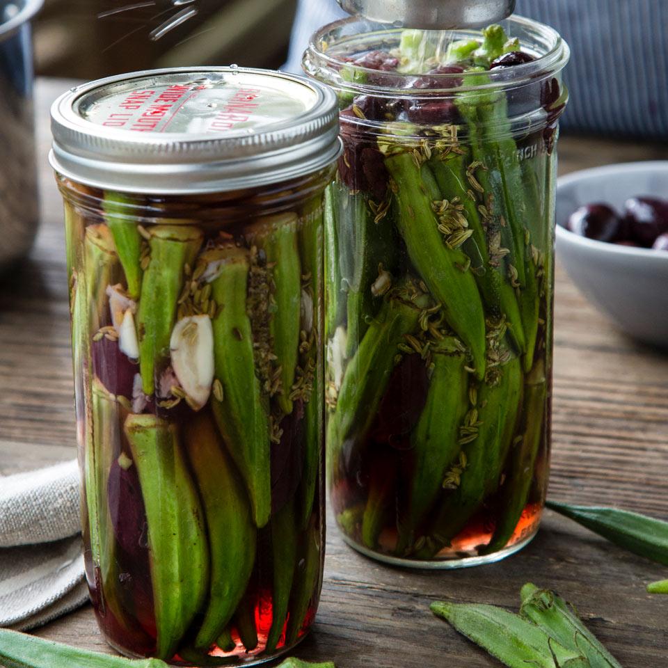 Olive-Cured Okra Pickles Vivian Howard