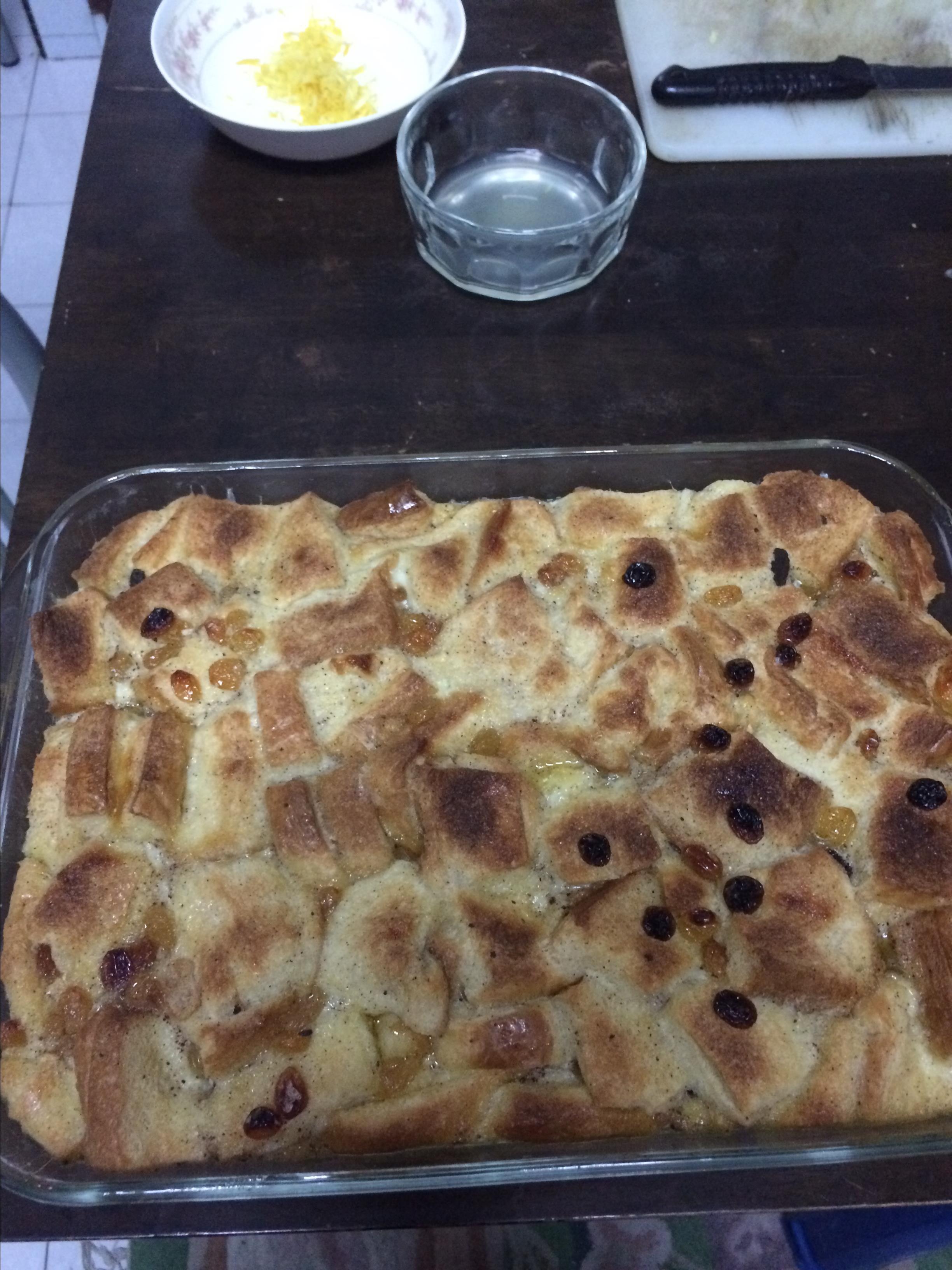 Bread Pudding with Lemon Sauce I