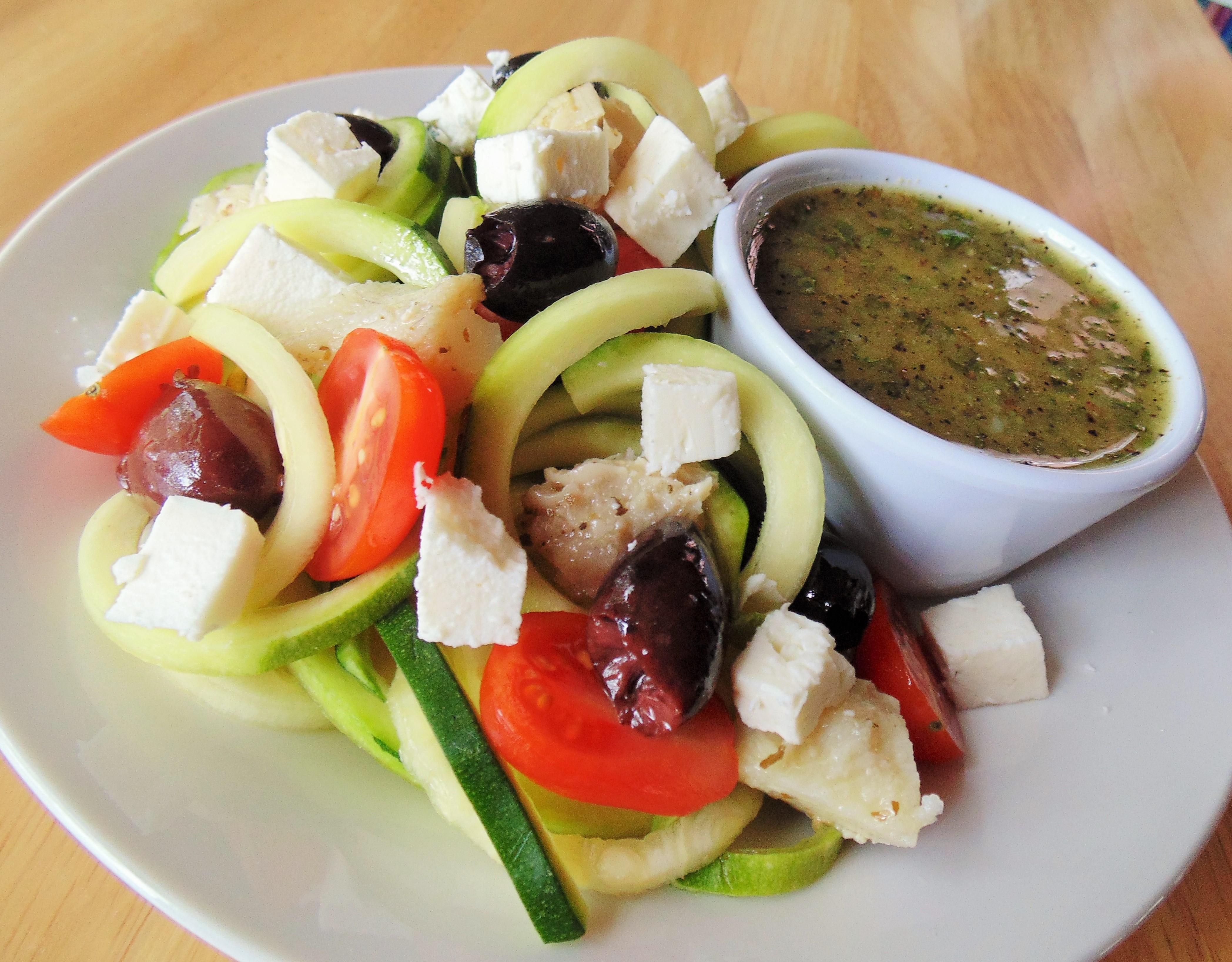 Mediterranean Zucchini 'Pasta' Salad