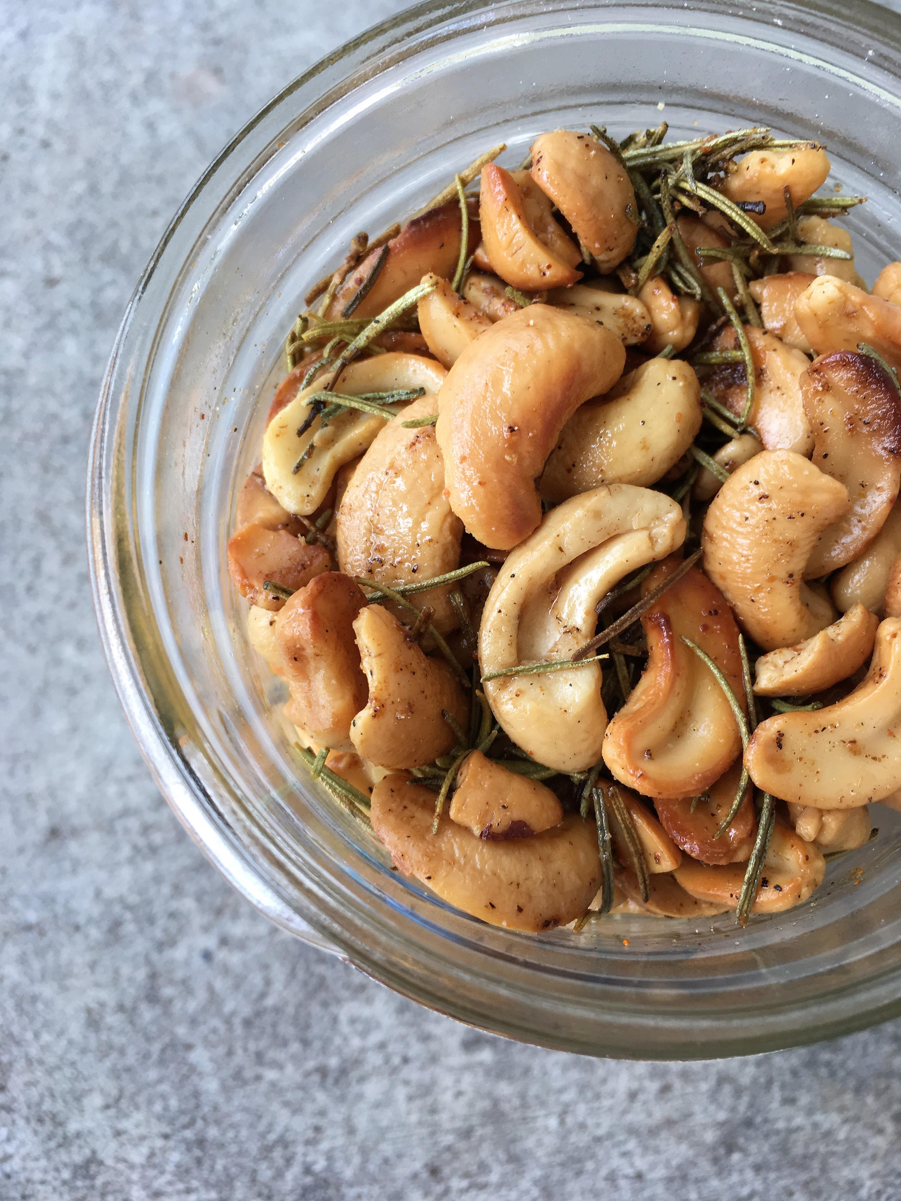 Roasted Rosemary Cashews CulinaryGirl25