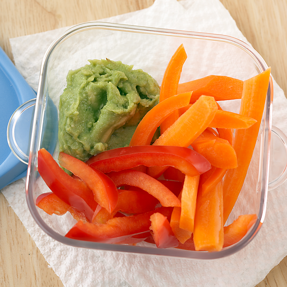 Guacamole and Veggies Diabetic Living Magazine