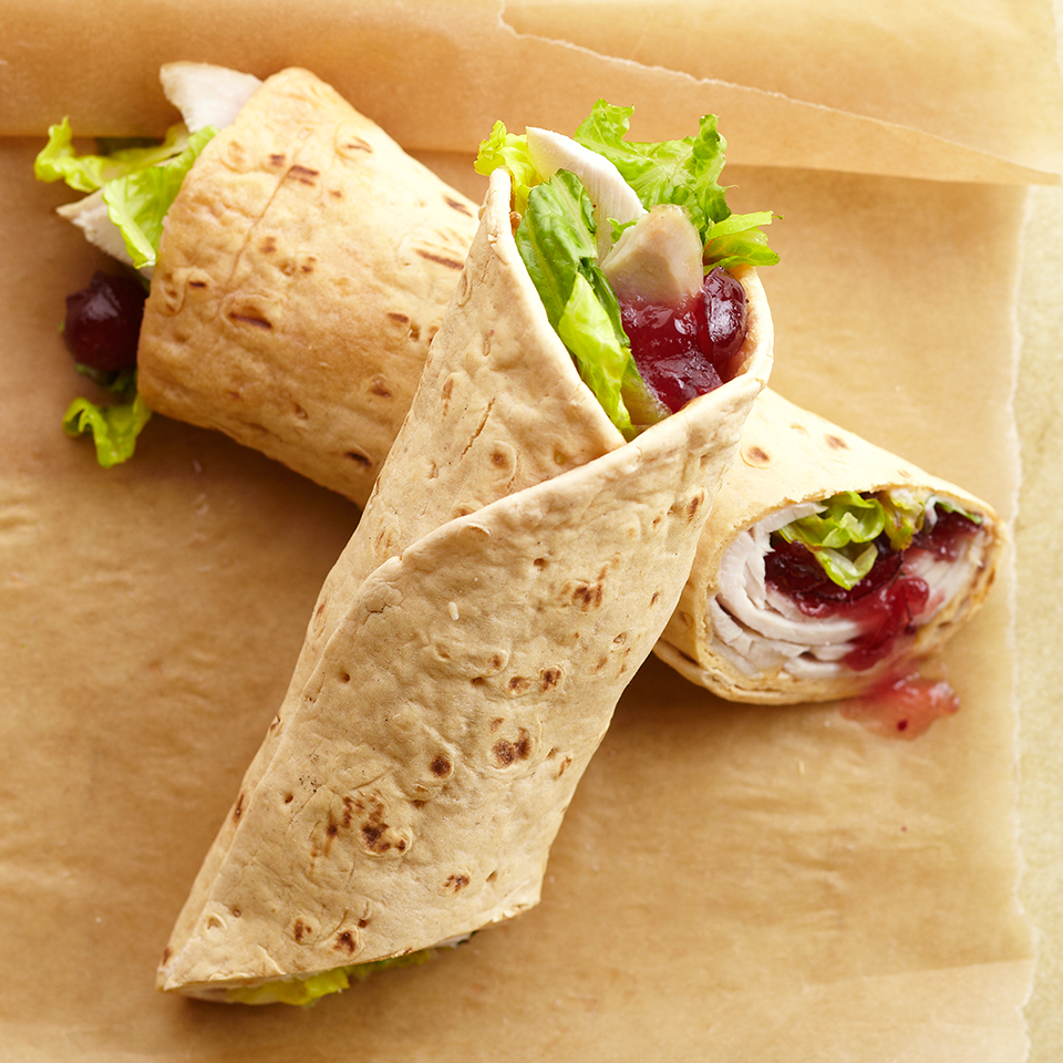 This wrap is quick-and-easy to prepare and is the perfect lunch solution for all of those Thanksgiving leftovers.