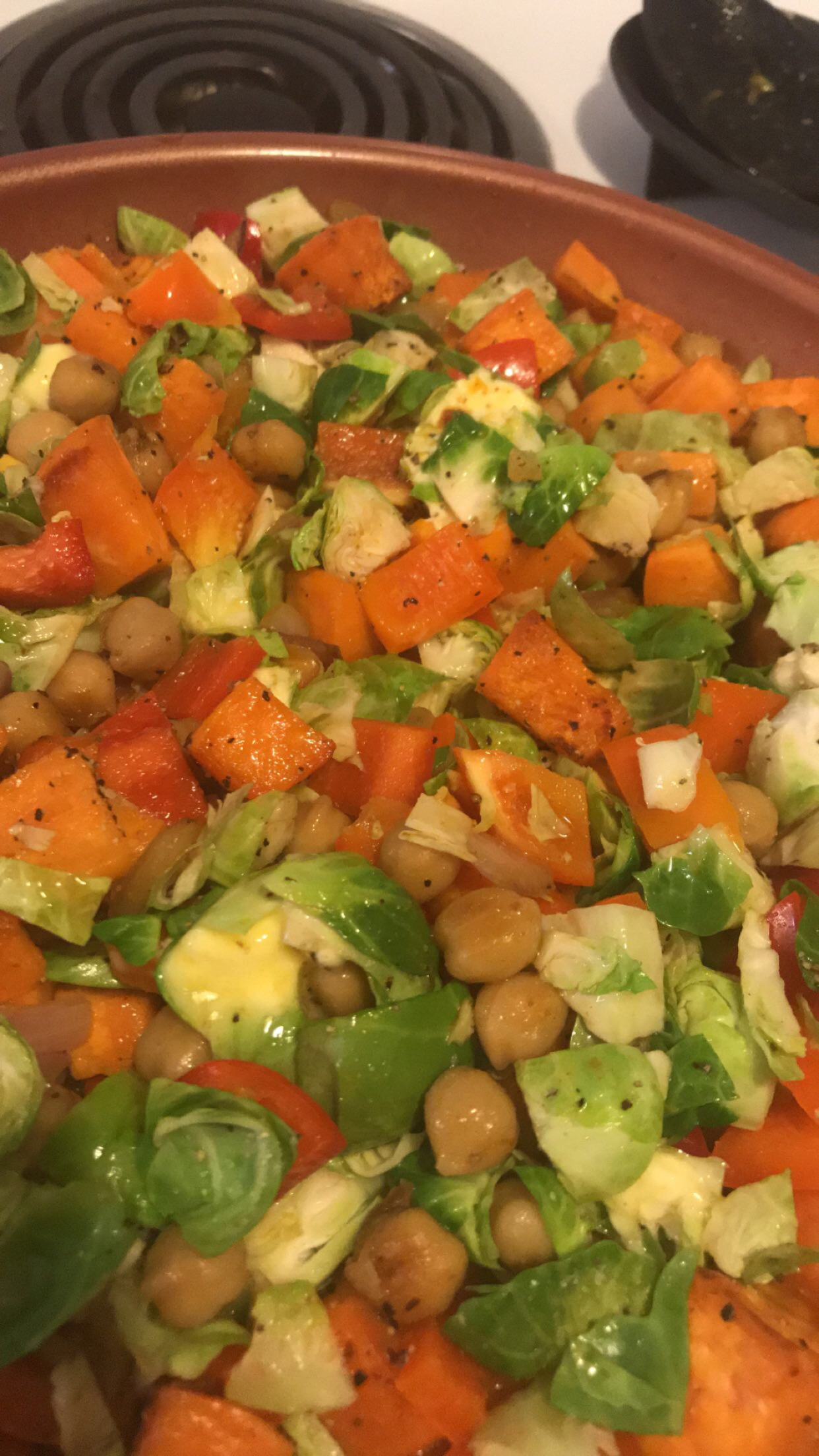 Vegan Cajun Chickpeas and Sauteed Vegetables