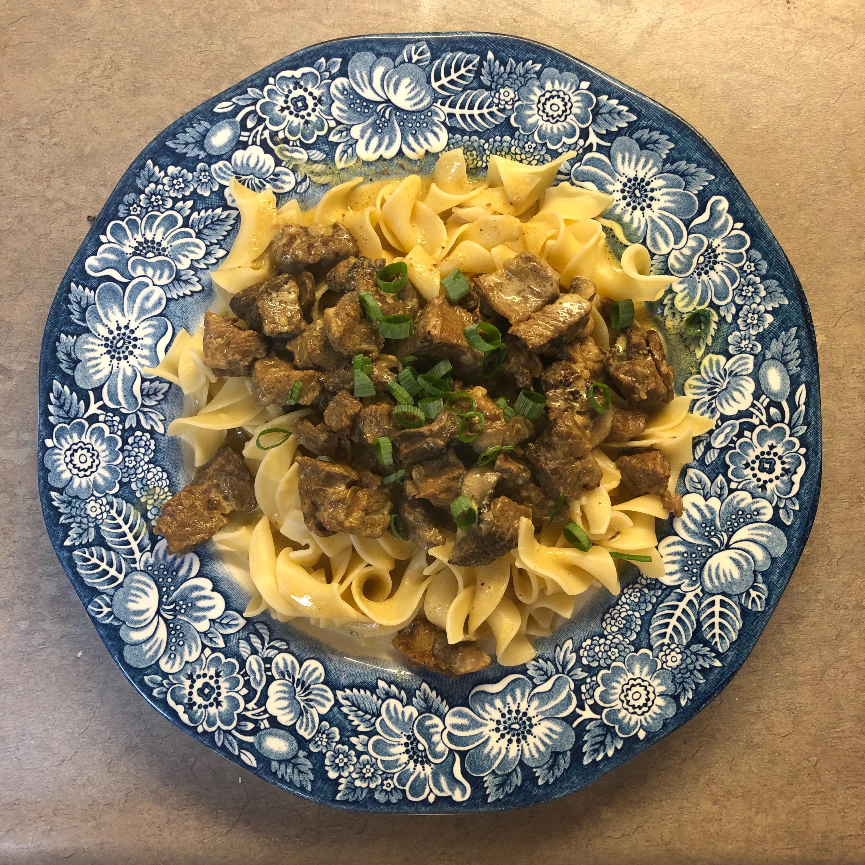 Beef and Mushroom Stroganoff, Aussie Style Sarah Snyder