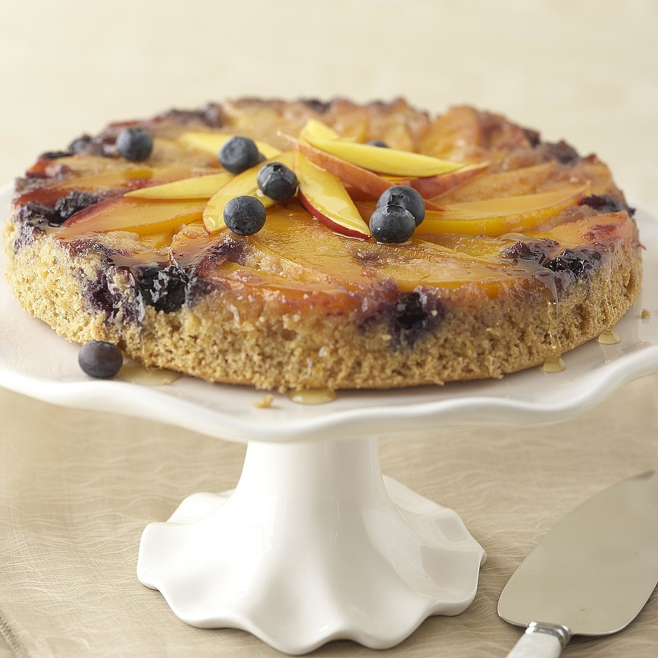 Blueberry-Mango Upside-Down Cake Trusted Brands